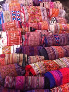 Traditional fabric from north Vietnam