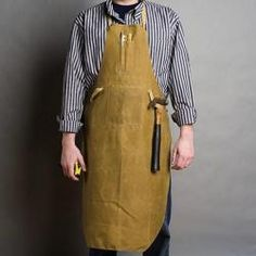 Handmade in California from vintage tin cloth deadstock, our Shop Apron is lightweight and comfortable to wear, with a heavy weight weave that is a little stif Shop Apron, Apron Designs, Textile Patterns, Textiles, Tin, My Style, How To Wear, Cotton, Clothes