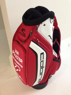 "December 29, 2012: ""My new @cobragolf bag has arrived. Looks great Arsenal colours, good choice Guys,"" reported Ian Poulter (@IanJamesPoulter)."