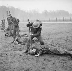 Commandos practise close-quarter combat in Scotland, 9 January 1943.