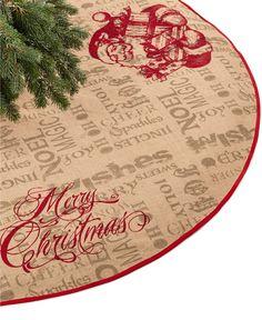 Jabara Burlap Santa Tree Skirt