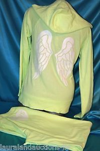 Medium Victorias Secret Supermodel Essentials Angel Wing Hoodie Set Yellow   eBay