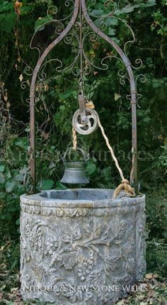 from Ancient Surfaces Online Catalog Pool Fountain, Garden Fountains, Wishing Well Garden, Natural Swimming Pools, Water Walls, Unusual Art, Garden Ornaments, Water Garden, Garden Projects