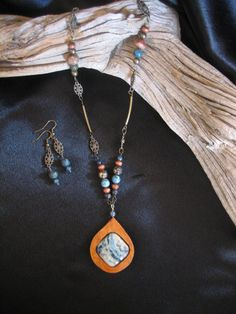 Beautiful handmade gourd wood necklace with Crazy by ExoticGourds, $60.00