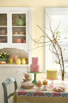 If I lived alone, I would always be wearing an apron and this is what my dining room would look like.