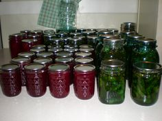 7 Day Sweet Pickles, Cinnamon Pickle Rings & Plum Jam Pickels, Plum Jam, Sweet Pickles, Pickling, Preserves, New Recipes, Cinnamon, Mason Jars, Boards