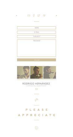 Ocalám - Website by Jorge Artola, via Behance