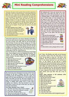 Mini Reading Comprehensions worksheet - Free ESL printable worksheets made by teachers