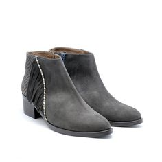 GAIMO 0740 Gray Suede Anckle Boots | Spanish Fashion - SPANISH SHOP ONLINE | Spain @ your fingertips