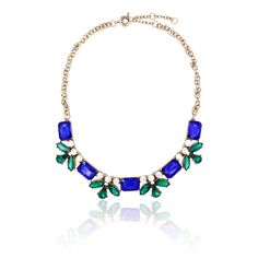 """Clo Clo London - Kamila Charming statement necklace with rhinestones of mixed colours Medium weight Length: 45cm (17.7"""") - 53cm (20.9"""") Décor length: 18.5cm (7.3"""")"""