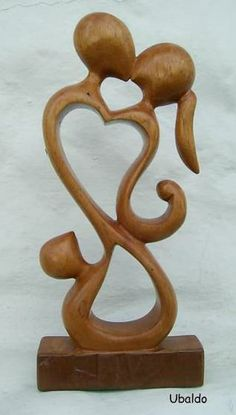 Talla en madera - Familia