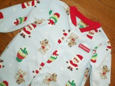 BABY infant UNISEX boy girl 6-9 mo CARTERS sleeper MY FIRST CHRISTMAS #ChildofMine #Holiday