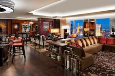 Suite Dreams: Live the Suite Life at Mandarin Oriental, Las Vegas Mandarin Oriental, Las Vegas Suites, Most Luxurious Hotels, Amazing Hotels, Suite Life, Luxury Condo, Custom Drapes, Condos For Sale, Home Living Room