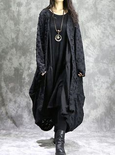 Shop Stylish Loose Asymmetry Hem Coat at EZPOPSY. Mori Fashion, Kinds Of Clothes, Minimal Fashion, Yamamoto, Alternative Fashion, Fashion Outfits, Womens Fashion, Fashion Online, Alexander Mcqueen