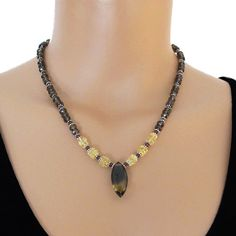 Smoky Quartz Citrine Garnet Gemstone Sterling Silver by DJStrang
