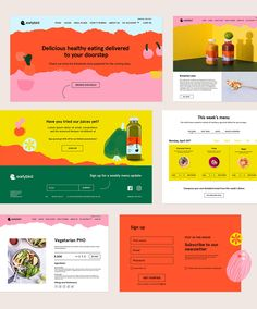 Earlybird Food Delivery on Behance Ui Ux Design, Interface Design, Branding Design, Flat Design, Website Design Inspiration, Graphic Design Inspiration, Layout Inspiration, Web Layout, Layout Design