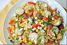 Summer Veggie Potato Salad...perfect for Labor Day cookout!