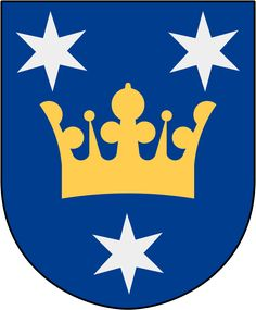 Coat of arms of the municipality of Sigtuna, Sweden.