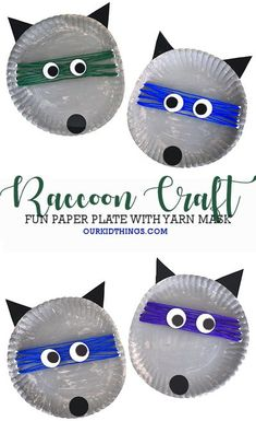 Paper Plate Raccoon Craft | Animal Crafts for Kids  #fallcraft #animalcraft #paperplatecraft #yarncraft #raccoons #backtoschool #kids #craft #kidscraft #kidcrafts