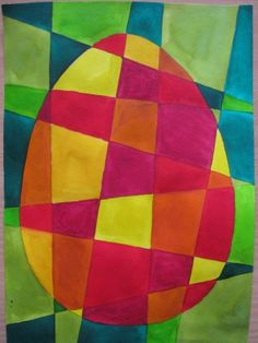 Patchworkmuster Easter egg - geometric surface design How to throw a Poker game in your Home without High School Art Projects, Spring Art Projects, Spring Crafts For Kids, Easter Projects, Art For Kids, Easter Drawings, Easter Colouring, Diy Ostern, Bunny Crafts