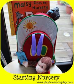 8a066fdc60 Play Learn Everyday  Starting Nursery School Going Back To School