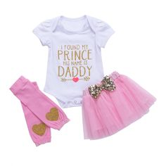 Daddys Little Princess Onesie Pink  #babyclothes #laminimas #babydresses #babyboutique #babyrompers #babyclothing #babyfashion #babyoutfits #babyshop
