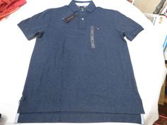 Mens Tommy Hilfiger Polo shirt XL xlarge solid NEW 7848707 Insignia Blue 488 #TommyHilfiger #polo
