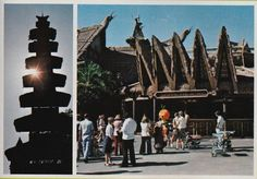 Here's Orange Bird doin' his thing outside of the Sunshine Tree Pavilion in the spring of 1976.