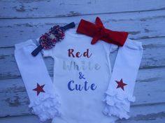 Red White and Cute 4th July Set!
