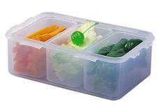 Lock & Lock HPL817C Multifunktionsbox 1, 0l mit 3 Innenboxen: Amazon.de: Küche & Haushalt