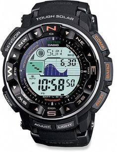 Casio Protrek Watches - Designed for Durability. Casio Protrek - Developed for Toughness Forget technicalities for a while. Let's eye a few of the finest things about the Casio Pro-Trek. High End Watches, G Shock Watches, Casio G Shock, Sport Watches, Watches For Men, Popular Watches, Nice Watches, Unusual Watches, Wrist Watches