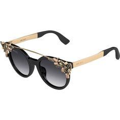 Retro-Glam Jimmy Choo SS16 Eyewear ❤ liked on Polyvore featuring accessories, eyewear, sunglasses, summer glasses, jimmy choo glasses, jimmy choo eyewear, glitter sunglasses and retro glasses Jimmy Choo Glasses, Ss16, Retro Fashion, Eyewear, What To Wear, Fashion Beauty, Celebrity Style, Sunglasses, Luxury