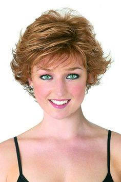 short flip hairstyles | Asset is a beautiful wig featuring lots of voluminised, flicked out ...
