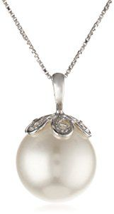 Make an elegant statement with a single radiant shell pearl. This refined pendant highlights a big spherical white shell pearl, topped with a decorative silver Pearl Pendant Necklace, Men Necklace, Pearl Jewelry, Silver Jewelry, Jewelry Necklaces, Pearl Necklaces, Necklace Ideas, Women's Jewelry Sets, Jewelry Accessories