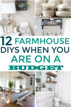 These farmhouse decor ideas are the best! I'm so happy I found these AWESOME fixer upper ideas! Now I have some great ways to make my home have more of the farmhouse style! 12 Farmhouse Decor Ideas anyone can do on a budget Farmhouse Side Table, Country Farmhouse Decor, Farmhouse Style Kitchen, Modern Farmhouse Kitchens, Farmhouse Design, Farmhouse Ideas, Farmhouse Rules, Urban Farmhouse, Country Interior