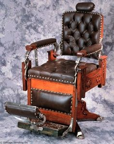 Antique Barber Chairs Decoration Ideas — Step Into The Dark Barber Shop Chairs, Barber Chair For Sale, Salon Chairs For Sale, Hair Salon Chairs, Barber Chair Vintage, Vintage Chairs, Kids Hanging Chair, Mushroom Chair, Home Hair Salons