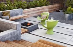 An outdoor living room by Arterra Landscape Architects