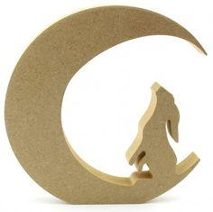 Moon Gazing Hare 18mm freestanding blank craft shapes http://www.lornajayne.co.uk/