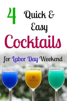 Enjoy these 4 quick and easy cocktails for Labor Day weekend, or any time of the year! These cocktail recipes will bring in the festivities of the holiday weekend. Farmhouse Lighting, Rustic Lighting, Lighting Ideas, Easy Cocktails, Cocktail Recipes, Rustic Home Interiors, Furniture For You, The Prestige, Decorating Your Home
