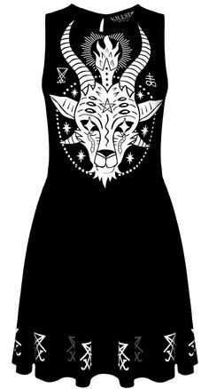 Killstar Goat Skater Dress | Blame Betty
