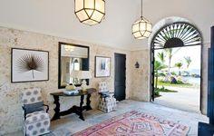 Gorgeous Island Style   Design by Allison Elebash  featuring Morris Hanging Lantern by Alexa Hampton for Visual Comfort & Co.