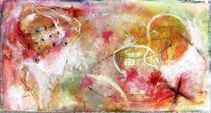 Judy Wise, artist  - Strawberry Moon 17x33