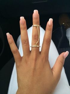 natural look on nails.Fashion ring only $0.99 shop at Costwe.com