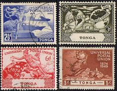 Tonga Stamps 1949 Universal Postal Union Set Fine Used SG 88-91 Scott 87 - 90 Other Tonga Stamps HERE