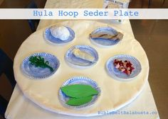 Hula Hoop Seder Plate: BIG up-cycle for kids #Passover