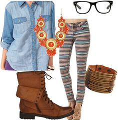 Artsy rebel-inspired outfit