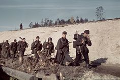 Finnish guerrilla heroes in the Continuation War, FLTR: kapteeni Pentti Railio, luutnantti Lauri Törni and luutnantti Holger Pitkänen