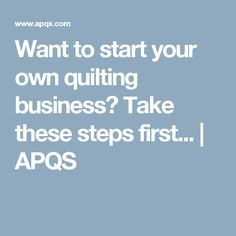 Have you thought about starting your own longarm quilting business ... : how to start a quilting business - Adamdwight.com