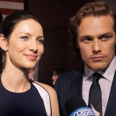 April 4, 2016) Caitriona Balfe & Sam Heughan Gear Up For 'Outlander' Season 2
