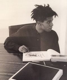 who tf was sartre anyway? Jean Michel Basquiat, Andy Warhol, Radiant Child, Neo Expressionism, Brooklyn Baby, Whitney Museum, Portraits, Cultura Pop, American Artists